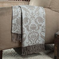 "North Shore Linens 50""x60"" Grand Baroque Jacquard Throw"