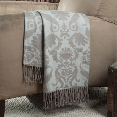 "433-771 - North Shore Linens™ Grand Baroque 60"" x 50"" Knit Throw"