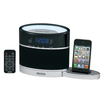 433-830 - Jensen iPod & iPhone Docking Digital Music System w/ Night Light