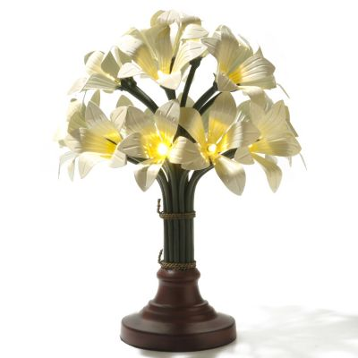 "433-907 - Style at Home with Margie 14.5"" Blooming Lights LED Bouquet"