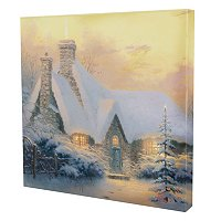 "THOMAS KINKADE ""CHRISTMAS TREE COTTAGE"" 20X20 GALLERY WRAP"