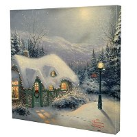 "THOMAS KINKADE ""SILENT NIGHT"" 14X14 GALLERY WRAP"