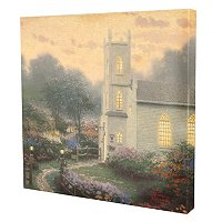 "THOMAS KINKADE "" BLOSSOM HILL CHURCH"" 14X14 GALLERY WRAP"
