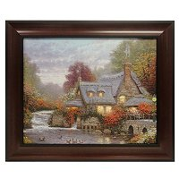 "THOMAS KINKADE ""THE MILLER'S COTTAGE"" 16X20 TEXTURED PRINT"
