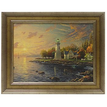 433-932 - Thomas Kinkade ''Serenity Cove'' 12'' x 16'' Framed Textured Print