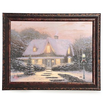 433-933 - Thomas Kinkade ''Christmas Eve'' 12'' x 16'' Framed Textured Print