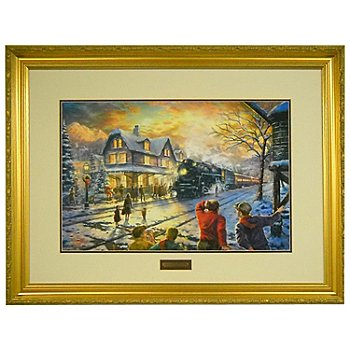 433-934 - Thomas Kinkade ''All Aboard for Christmas'' 18'' x 27'' Limited Edition Framed Print