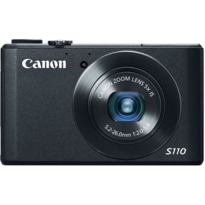 433-960 - Canon 6351B001 PowerShot S110 Black 12.1MP Digital Compact Camera