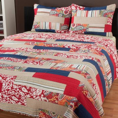 "434-060 - North Shore Linens™ ""Rowan"" Three-Piece Quilt Set"