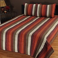 "North Shore Linens ""Venetian Stripe"" Three-Piece Coverlet Set"