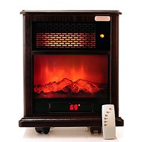 AMERICAN COMFORT INFRARED HEATER WITH SIMULATED FLAMES