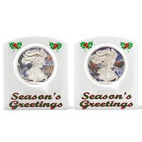 2012 Silver Eagle Holiday Theme - (1) Santa Claus & (1) Snowman