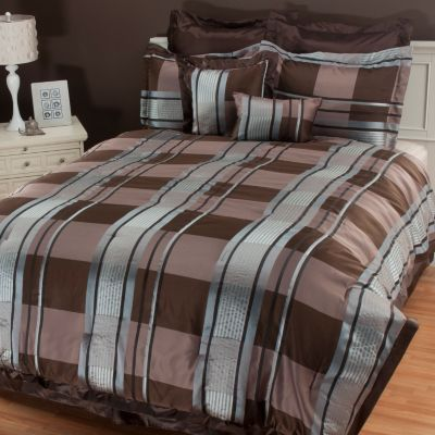 "434-721 - North Shore Linens™ ""Dakota"" Microfiber Eight-Piece Bedding Ensemble"