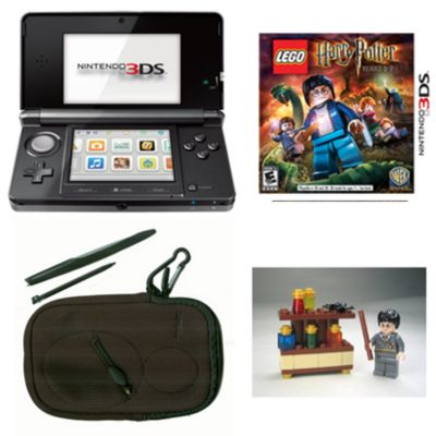 434-726 - Nintendo 3DS Black System w/ Lego Harry Potter & Bonus