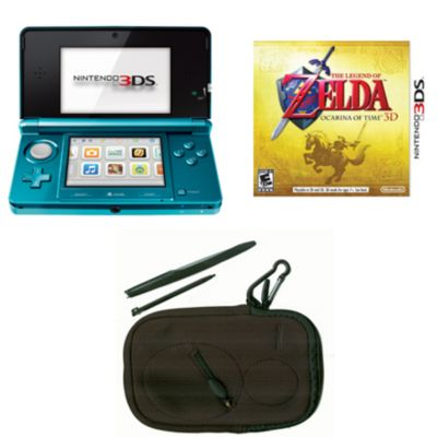 434-728 - Nintendo 3DS Aqua Blue System w/ Legend of Zelda: Ocarina of Time