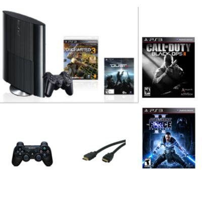 434-740 - Sony PlayStation 3 250GB Uncharted 3 System w/  Call of Duty: Black Ops 2 & Star Wars