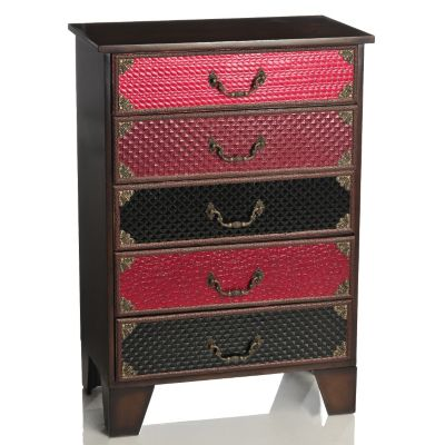 "434-935 - Style at Home with Margie 30"" En Vogue Five-Drawer Cabinet"