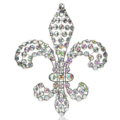 "434-937 - Style at Home with Margie 18"" Fleur De Bling Acrylic & Iron Wall Hanging"