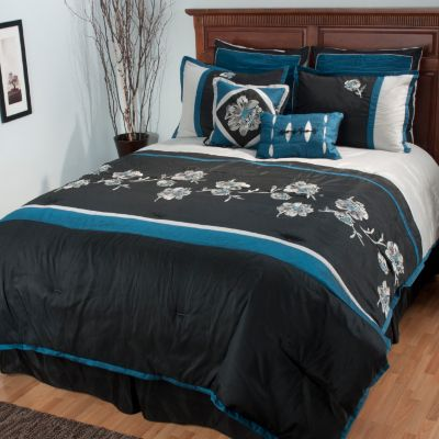 "434-945 - North Shore Linens™ ""Isabella"" Eight-Piece Bedding Ensemble"