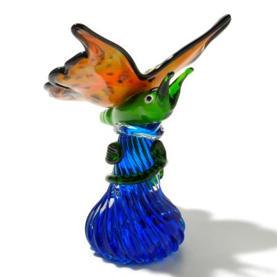 "434-965 - Favrile 8.25"" Art Glass Hand-Blown Butterfly Figurine"