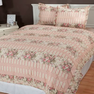 "434-981 - North Shore Linens™ ""Bloomfield"" Three-Piece Coverlet Set"