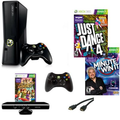 435-001 - Xbox 360 4GB Console w/ Just Dance 4 & Minute to Win It