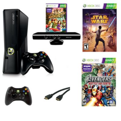 435-003 - Xbox 360 4GB Console w/ Marvel Avengers & Star Wars
