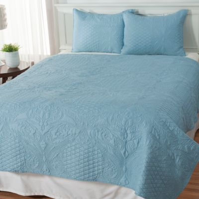 "435-144 - North Shore Linens™ ""Empress"" Three-Piece Coverlet Set"