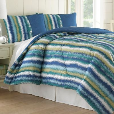 "435-162 - North Shore Linens™ ""Bahama Stripe"" Seersucker Three-Piece Comforter Set"