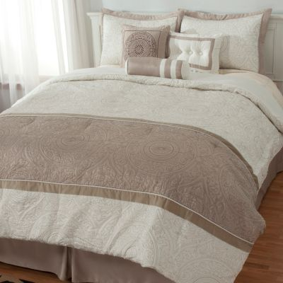 "435-215 - North Shore Linens™ ""Vincenza"" Seven-Piece Bedding Ensemble"