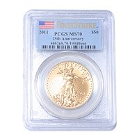 2011 $50 Gold Eagle PCGS MS70 FS 25th Annivesary