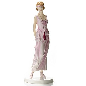 435-228 - Royal Doulton® Fashion of the Decades: 1920s ''Gloria'' 9.25'' Figurine - Signed