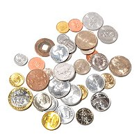 Lucky Coins, Collection of 33 Coins from Around the World