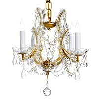 Gallery Maria Theresa Collection Crystal 4 Light Chandelier