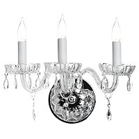 Gallery Royal Collection Crystal 3 Light Wall Sconce