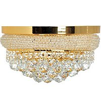 Gallery Empire Style Crystal 3 Light Flush Mount