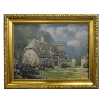 "435-472 - Thomas Kinkade ""Spring at Stonegate"" Framed Textured Print"