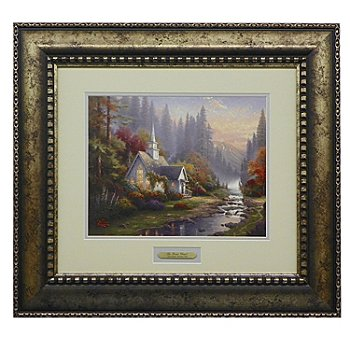 435-480 - Thomas Kinkade Prestige Home Collection ''Forest Chapel'' Framed Print