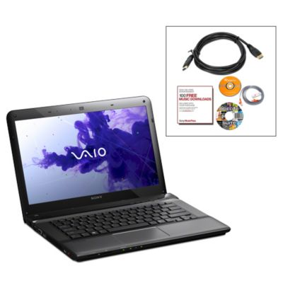 "435-529 - Sony VAIO 14"" Intel Core i3-3110M 2.4GHz, Win8 64B Black Notebook Bundle"