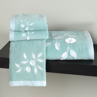 "435-552 - North Shore Linens™ ""Florette"" Cotton Four-Piece Towel Set"