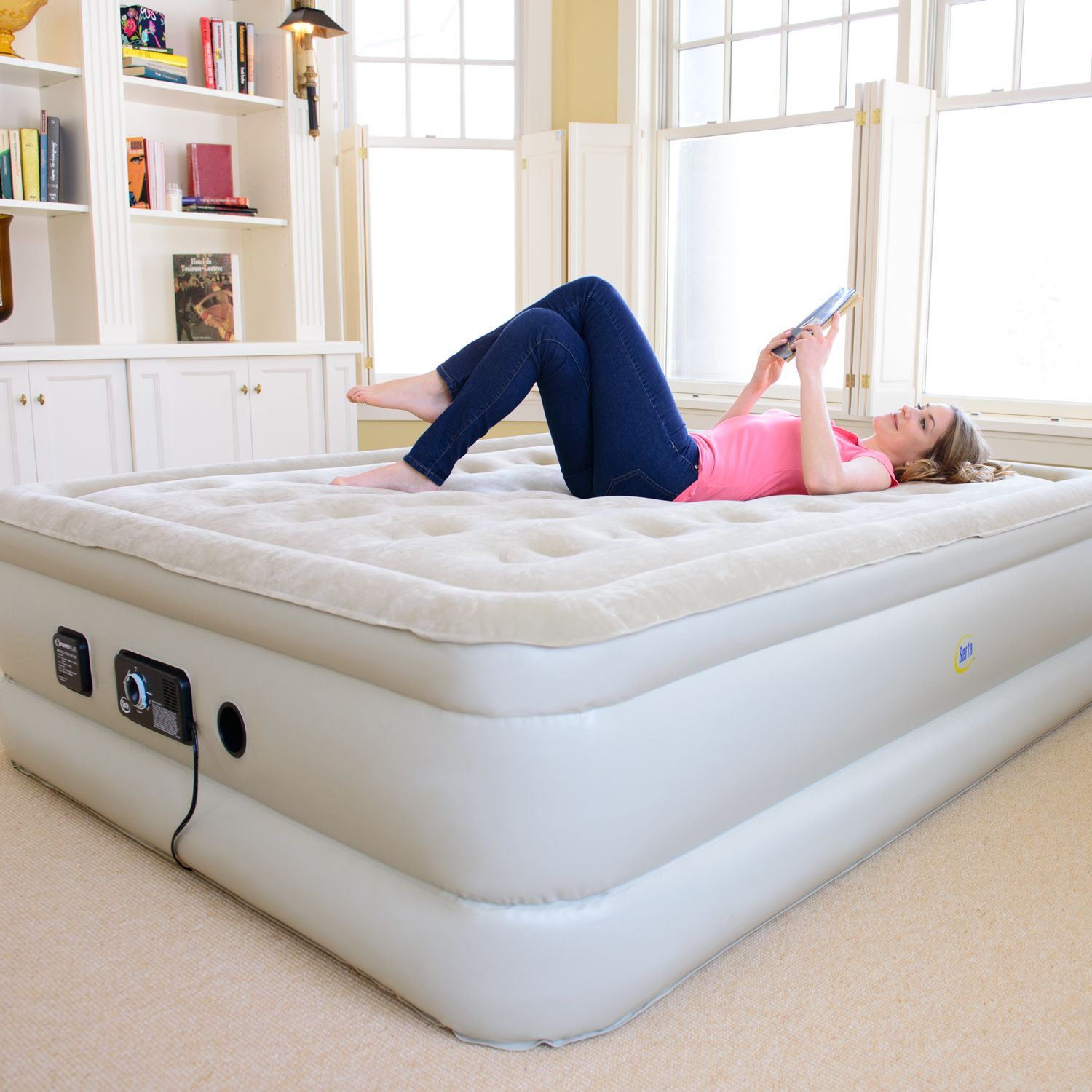 ShopHQ Serta inflatable bed