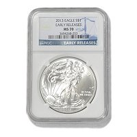 2013 Silver Eagle NGC MS70 Early Releases