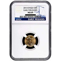 2013 $5 Gold Eagle NGC MS69 ER
