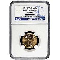 2013 $10 Gold Eagle NGC MS69 ER