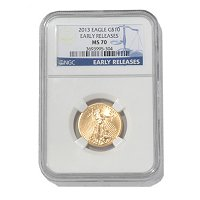 2013 $10 Gold Eagle NGC MS70 ER