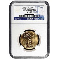 2013 $25 Gold Eagle NGC MS69 ER