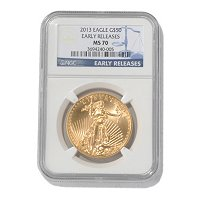 2013 $50 Gold Eagle NGC MS70 ER