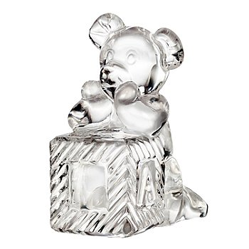 435-633 - Waterford® Crystal 3.5'' Teddy Bear on Block