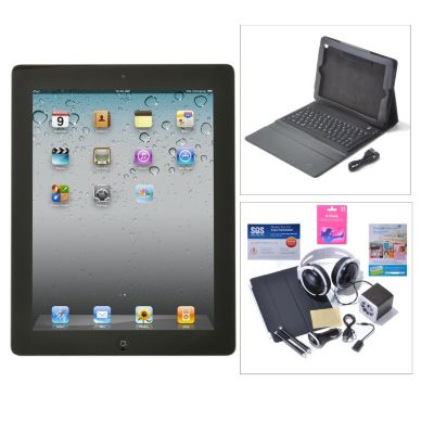 "435-743 - Apple® iPad® 4th Gen 9.7"" Retina Display Wi-Fi Only 64GB Tablet w/ Accessories & Gift Cards"