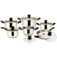 Vinaroz VRSS-2233 Vicenza Series 12 Pc. Stainless Steel Cookware Set